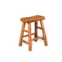"24""H Sedona Saddle Seat Stool w/ Wood Seat"