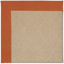 Creative Concepts-Cane Wicker Canvas Rust Machine Tufted Rugs