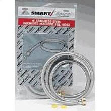 Universal Stainless Steel Washer Fill Hose - 6'