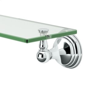 Charlotte Glass Shelf in Chrome Product Image