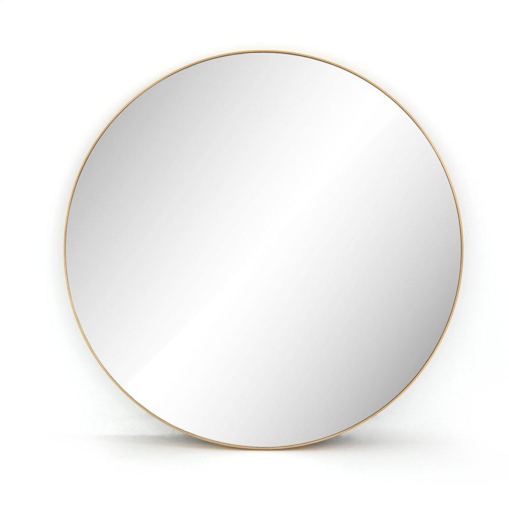 Polished Brass Finish Bellvue Round Mirror