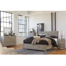 Naydell - Rustic Gray 5 Piece Bedroom Set