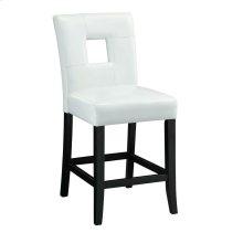 Newbridge Causal White Counter-height Chair