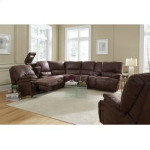 LA Reclining Console Loveseat/Lights/ Cupholders/Storage