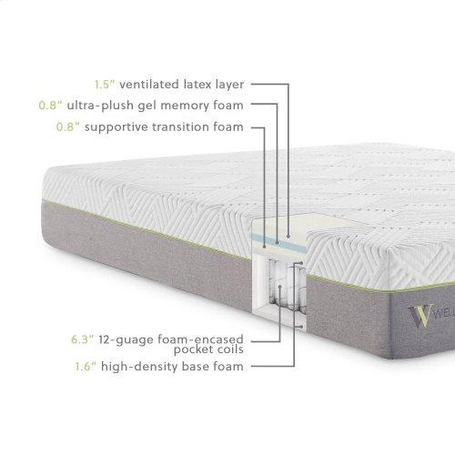 Wellsville 11 Inch Latex Hybrid Mattress Cal King