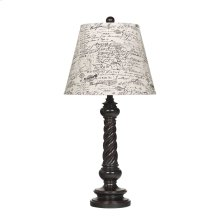 Roisin Antique Black Poly Table Lamp