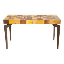 Gajel Console Table With Metal Legs