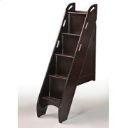 Bunk Bed Stairs in Dark Chocolate Finish Product Image