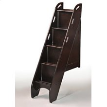 Bunk Bed Stairs in Dark Chocolate Finish
