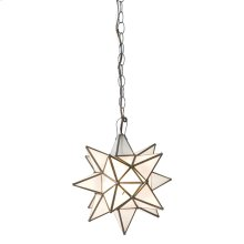 Small Star Chandelier With Frosted Glass