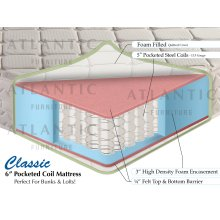 "Classic Pocket Coil Mattress 6"" Full"