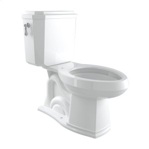 Polished Chrome Perrin & Rowe Deco Elongated Close Coupled 1.28 Gpf High Efficiency Water Closet/Toilet Product Image