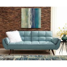 Skylar Transitional Blue Sofa Bed