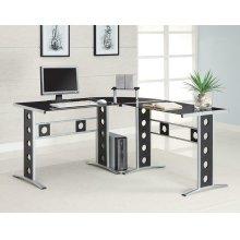 Casual Black and Silver Computer Desk