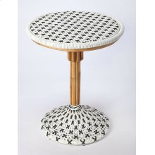 Function, form and fun all come together on this beautiful PU Rattan weave dining chair. The simplistic design of this chair is enhanced by a 'POP of contemporary design. The functional design of the dining chair with its intricate patterned weave and pat