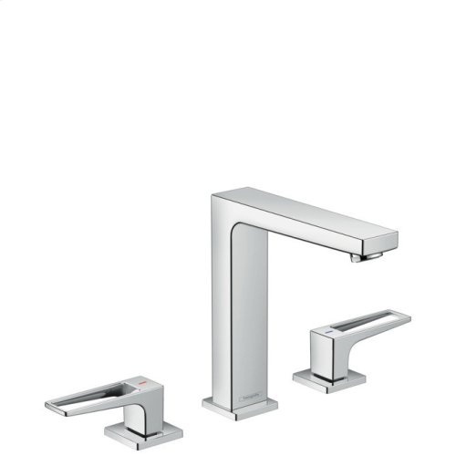 Chrome Widespread Faucet 160 with Loop Handles, 1.2 GPM