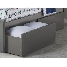 Two Urban Bed Drawers Twin/Full in Atlantic Grey