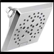 Chrome H2Okinetic ® 5-Setting Angular Modern Raincan Shower Head