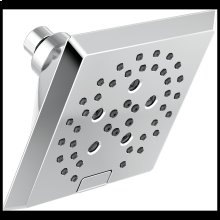 Chrome H 2 Okinetic ® 5-Setting Angular Modern Raincan Shower Head