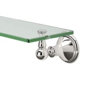 Laurel Ave. Glass Shelf in Polished Nickel Product Image