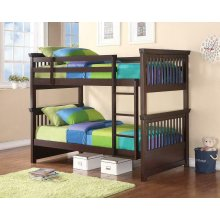 Miles Cappuccino Twin-over-twin Bunk Bed