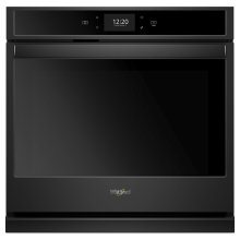 4.3 cu. ft. Smart Single Wall Oven with True Convection Cooking Black