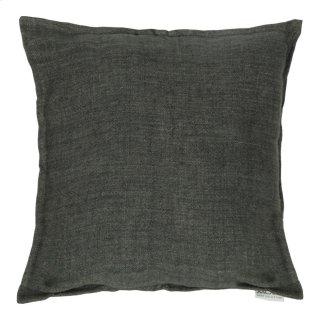 Lemmy Linen Feather Cushion Charcoal 20x20