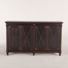 "Library Sideboard 66"" Antique Black"