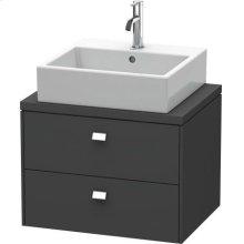 Brioso Vanity Unit For Console Compact, Graphite Matte (decor)