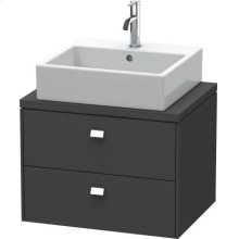 Brioso Vanity Unit For Console Compact, Graphite Matte (decor)