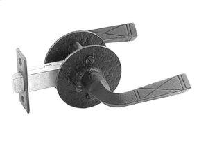 Double Lever Latch Set - Rough Iron Product Image