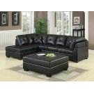 Darie Contemporary Black Ottoman Product Image
