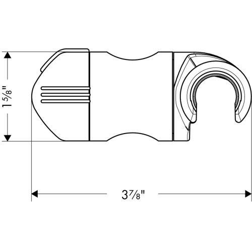 Polished Nickel Unica Wallbar E Slider