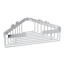 Polished Chrome Wall Mount Large Corner Basket