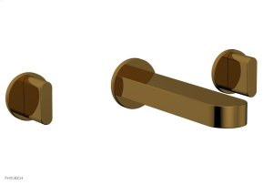 ROND Wall Lavatory Set - Blade Handles 183-11 - French Brass Product Image