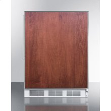 Commercially Listed Built-in Undercounter All-refrigerator for General Purpose Use, Auto Defrost W/ss Door Frame for Slide-in Panels and A White Cabinet