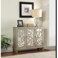 SILVER GRAY CONSOLE TABLE