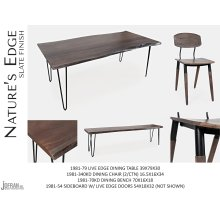 """Nature's Edge 60"""" Dining Table With 4 Chairs - Brushed Grey"""