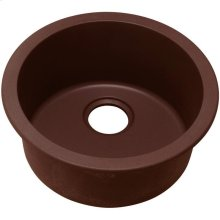 "Elkay Quartz Classic 18-1/8"" x 18-1/8"" x 7-1/2"", Single Bowl Dual Mount Bar Sink, Pecan"