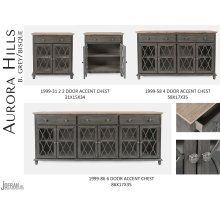 Aurora Hills 2 Door Accent Chest-b. Grey/bisque
