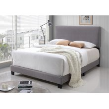 Jessica Light Gray Fabric Upholstered Queen Bed