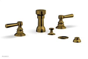 HEX TRADITIONAL Four Hole Bidet Set 500-61 - French Brass Product Image