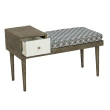 Table/ Bench - Salted Caramel/ Gray Fabric Finish