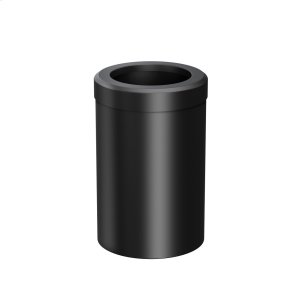 Round Modern Waste Basket in Matte Black Product Image