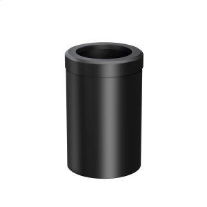 Round Modern Waste Basket in Matte Black Product Image