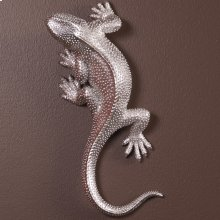 Lizard Figurine Bright Textured Nickel