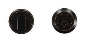 "RD, Round Deadbolt, Single Cylinder, 2-3/8"" BS, 10B Product Image"