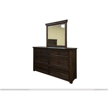 6 Drawer, Dresser, Parota Wood