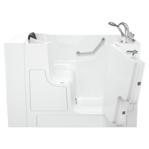 Gelcoat Premium Series 30x52 Inch Walk-in Tub with Air Spa System and Outward Opening Door, Right Drain  American Standard - White