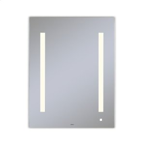 """Aio 23-1/8"""" X 29-7/8"""" X 1-1/2"""" Lighted Mirror With Lum Lighting At 2700 Kelvin Temperature (warm Light), Dimmable, Usb Charging Ports and Om Audio Product Image"""